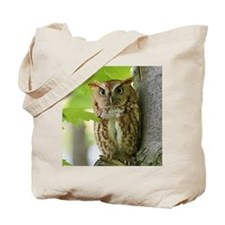 Red Sreech Owl Tote Bag