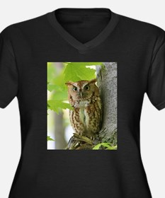 Red Sreech Owl Plus Size T-Shirt