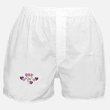 Pink Tulip Monogram Boxer Shorts