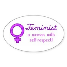 Feminist Fist Oval Decal