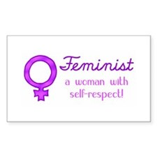 Feminist Fist Rectangle Decal