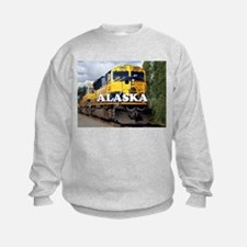 Alaska Railroad engine locomotive Sweatshirt