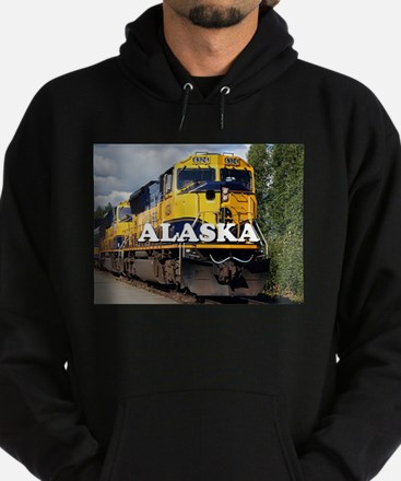 Alaska Railroad engine locomotive 2 Hoodie (dark)