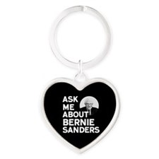 Cute Ask me about Heart Keychain