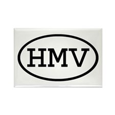HMV Oval Rectangle Magnet