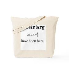 Heisenberg Uncertainty (Formula) Tote Bag