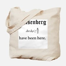 Heisenberg Uncertainty (Formula) Tote Bag