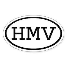 HMV Oval Oval Decal