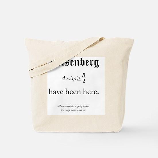 Heisenberg Quiz Tote Bag
