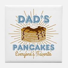 Dad's Pancakes Tile Coaster