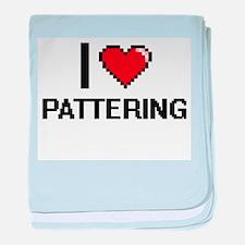 I Love Pattering Digital Design baby blanket