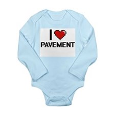 I Love Pavement Digital Design Body Suit