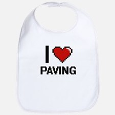 I Love Paving Digital Design Bib