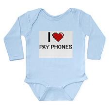 I Love Pay Phones Digital Design Body Suit