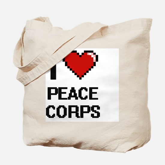 Cute History of peace corp Tote Bag