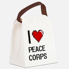 Unique Peace corps Canvas Lunch Bag