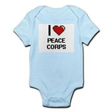 I Love Peace Corps Digital Design Body Suit
