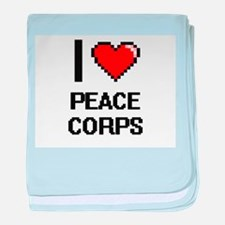 I Love Peace Corps Digital Design baby blanket