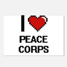 I Love Peace Corps Digita Postcards (Package of 8)