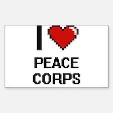 I Love Peace Corps Digital Design Decal
