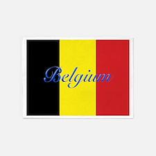 Belgium Flag 5'x7'Area Rug