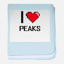 I Love Peaks Digital Design baby blanket