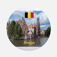 Stunning! Bruges canal Round Ornament