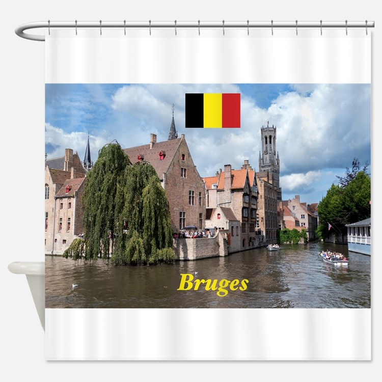Stunning! Bruges canal Shower Curtain