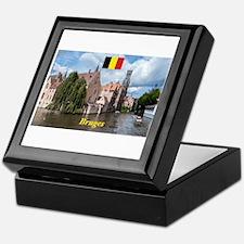 Stunning! Bruges canal Keepsake Box
