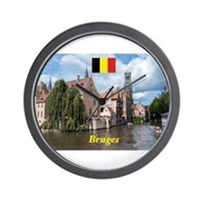 Stunning! Bruges canal Wall Clock