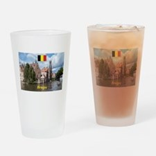 Stunning! Bruges canal Drinking Glass