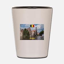 Stunning! Bruges canal Shot Glass