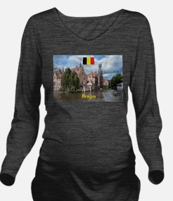 Stunning! Bruges canal Long Sleeve Maternity T-Shi