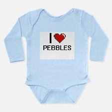 I Love Pebbles Digital Design Body Suit