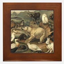 Arctic Animals Framed Tile