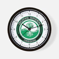 Going Green Oregon (Tree) Wall Clock