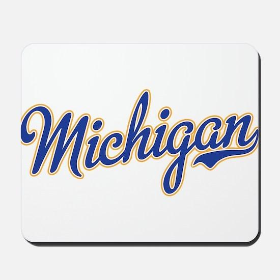 Michigan Script Font Mousepad