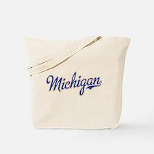 Michigan Script Font Tote Bag