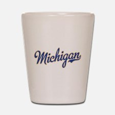 Michigan Script Font Shot Glass