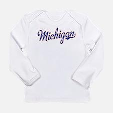 Michigan Script Font Long Sleeve T-Shirt