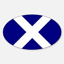 Square Scot Flag st Andrew Cross Decal