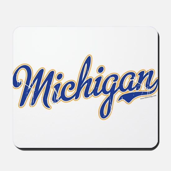 Michigan Script Font Vintage Mousepad