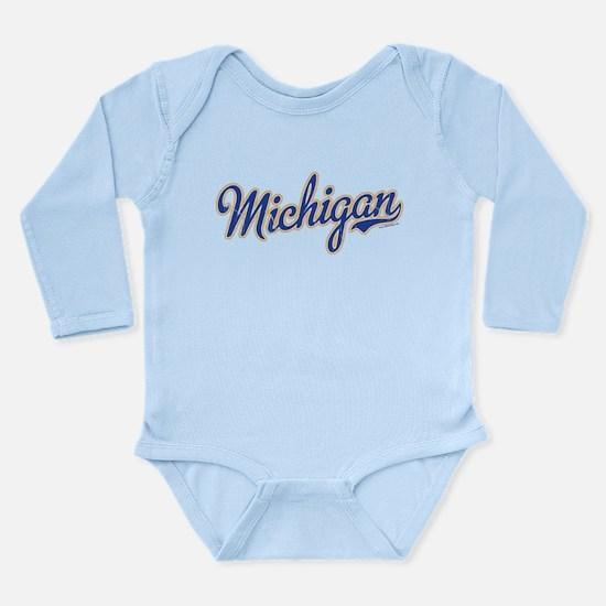 Michigan Script Font Vintage Body Suit