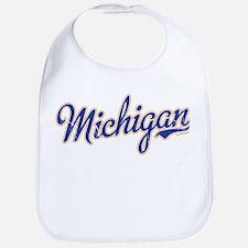 Michigan Script Font Vintage Bib