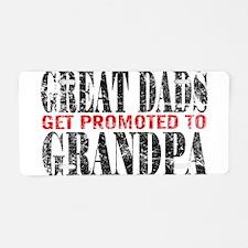 Cute Great grandpa to be Aluminum License Plate