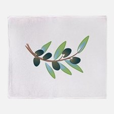 OLIVE BRANCH Throw Blanket