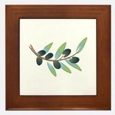 OLIVE BRANCH Framed Tile