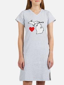 I Love Michigan Women's Nightshirt