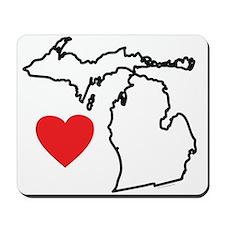 I Love Michigan Mousepad