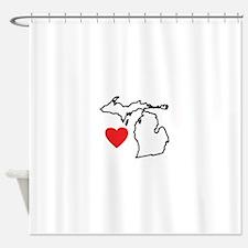 I Love Michigan Shower Curtain